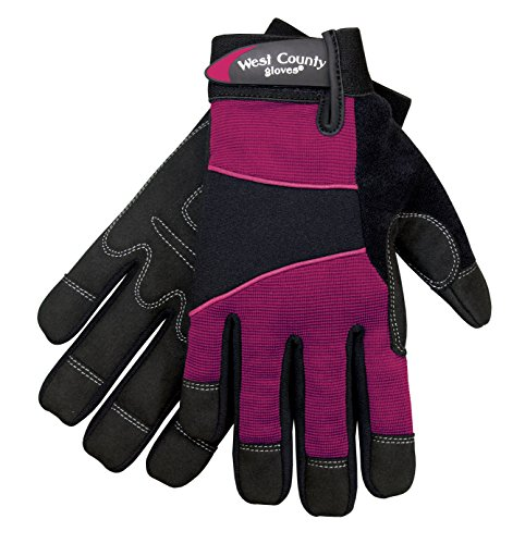 Safety Works 012F/S West County Womens Work Glove, Small, Berry by Safety Works