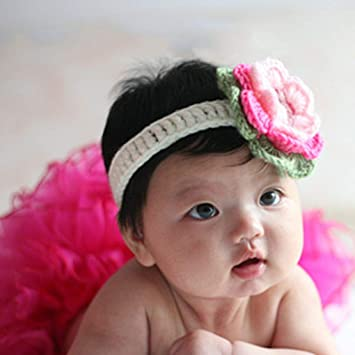 51b1671d407 Baby Mini Chiffon Flower Headband Infant Hair Weave Band Baby Headband  Girls Headwear Newborn Toddler Hair