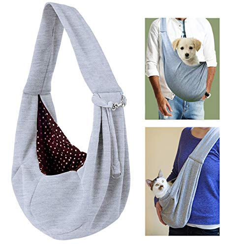 XYJNN Dog Carrier Sling, Reversible Dog Carrier Front Pack for Small Dogs Cats Hands Free Pet Puppy Carrier Tote Pet Carrier Bag for Travel Car Bike