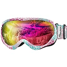 OutdoorMaster Kids Ski Goggles - Helmet Compatible Snow Goggles Boys & Girls 100% UV Protection