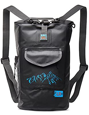 Waterproof Dry Backpack Bag with Straps - Floating Sack for Kayaking, Boating, Rafting, Beach, Camping, Fishinhg or Hiking and Waterproof Mobile Pack - Exterior&Interior Pockets for protected storage.