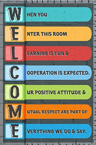 JSC142 Welcome Classroom Poster | 18-Inches By 12-Inches | 100lb Gloss Poster Paer