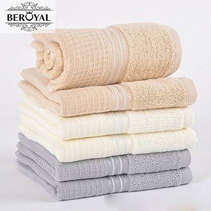 Generic color beige, 34 x 72 cm: nueva 2017 Maomaoyu toalla de marca mejor