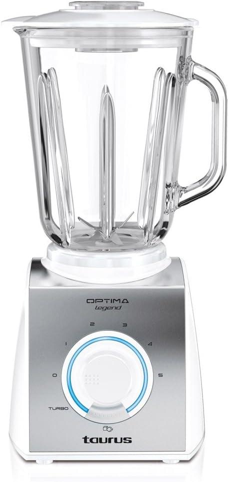 Taurus Optima Glass-Batidora de vaso, 550 W, 1, 5 l, 2 velocidades ...