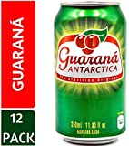 Guarana Antarctica, Guaraná Flavoured Soft Drink, Made from Amazon Rainforest Fruit, Imported from Brazil, 350ml, (Pack of 12)