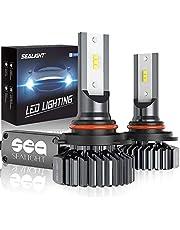SEALIGHT 9005 HB3 LED Headlights Bulb, High Beam LED Bulb, 9145/H10 Fog Light Bulbs, 6000K Bright White, Halogen Replacement, Quick Installation