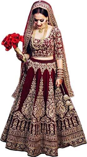 Aayan Export Women's Synthetic Semi-stitched Lehenga Choli
