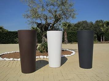 macetas grandes de color antracita de resina modelo gnesis cache 85 x 38 - Macetas Grandes