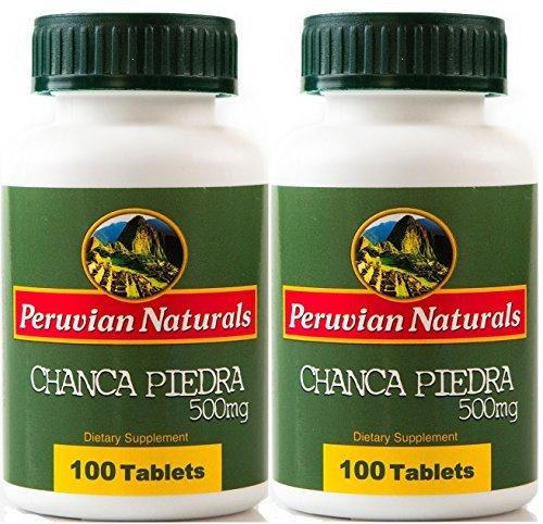 Peruvian Naturals Organic Chanca Piedra 500mg - 200 Tablets (Stonebreaker) by Peruvian Naturals (Liver Tabs 200)