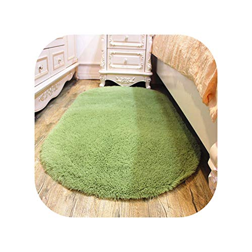 Washable Cute Oval Floor mats Home Carpet Living Room Coffee Table Blanket Bedroom Room Bedside Cushion Bed Front Blanket,7,80x160cm