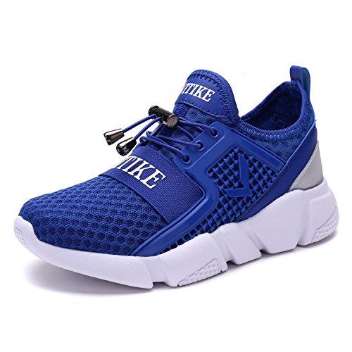 Ginnastica Scarpe Libero Bambini 4 Super Tempo Sport Light Casual Sportive Sneakers Running blu da ASHION f0pqH