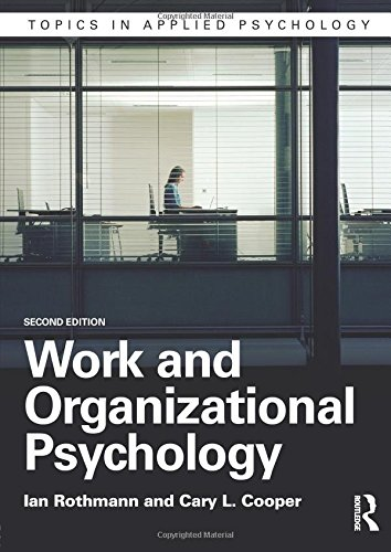 Work and Organizational Psychology (Topics in Applied Psychology)