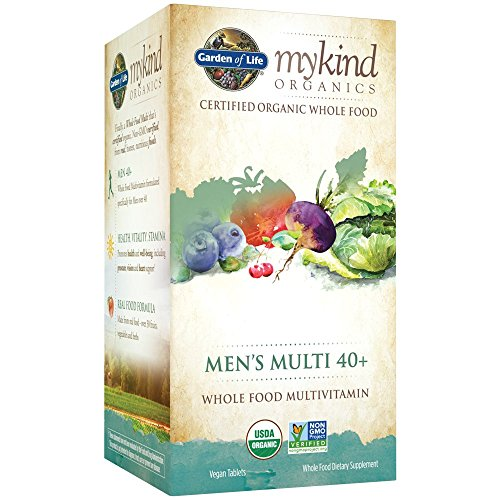 Garden of Life Multivitamin for Men - mykind Organic Men's 40+ Whole Food Vitamin Supplement, Vegan, 60 Tablets