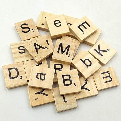Arrive Before Christmas Scrabble - Juego de 100 letras inglesas de madera para manualidades y juguetes de madera para niños: Amazon.es: Juguetes y juegos