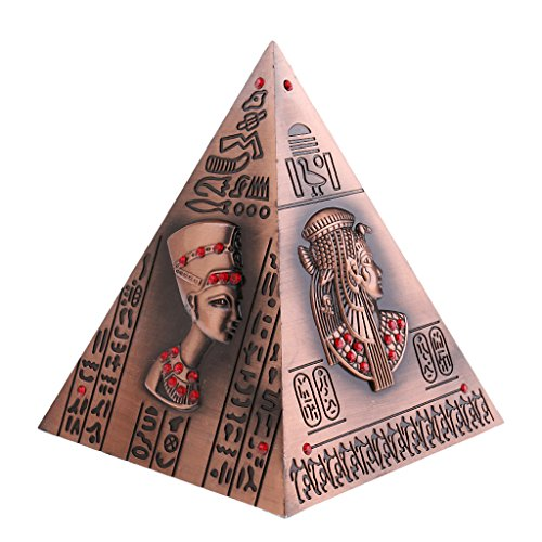 - Baoblaze Antique Bronze Ancient Egypt Pyramid Savings Pot Decoration Money Box Creative Piggy Bank Copper
