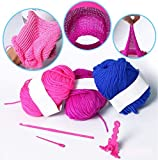 Round Loom Set,Knitting Board Rotating Double Knit Loom,Needles Knitting Machine Weaving Loom Kit for Adults/ Kids