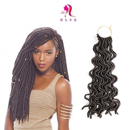 HLSK 6Packs/Lot 20'' Deep Wavy Crochet Braids Synthetic Braiding Hair Soft Curly Faux Locs Crochet Hair Havana Mambo Twist Kanekalon Hair Extensions Braids Color #4 - 20' Synthetic Rollers