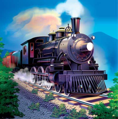 Clickety Clack Train - Clickety Clack Train Beverage Napkin