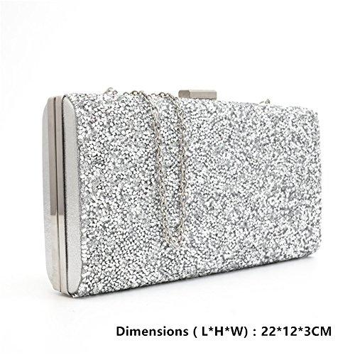 KICCOLY Pochette Pochette KICCOLY Silver8009 pour femme wqSZwp