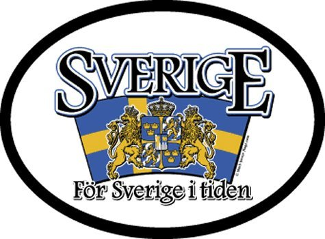 Sweden - Arched Flag oval decal for auto, truck or boat ()