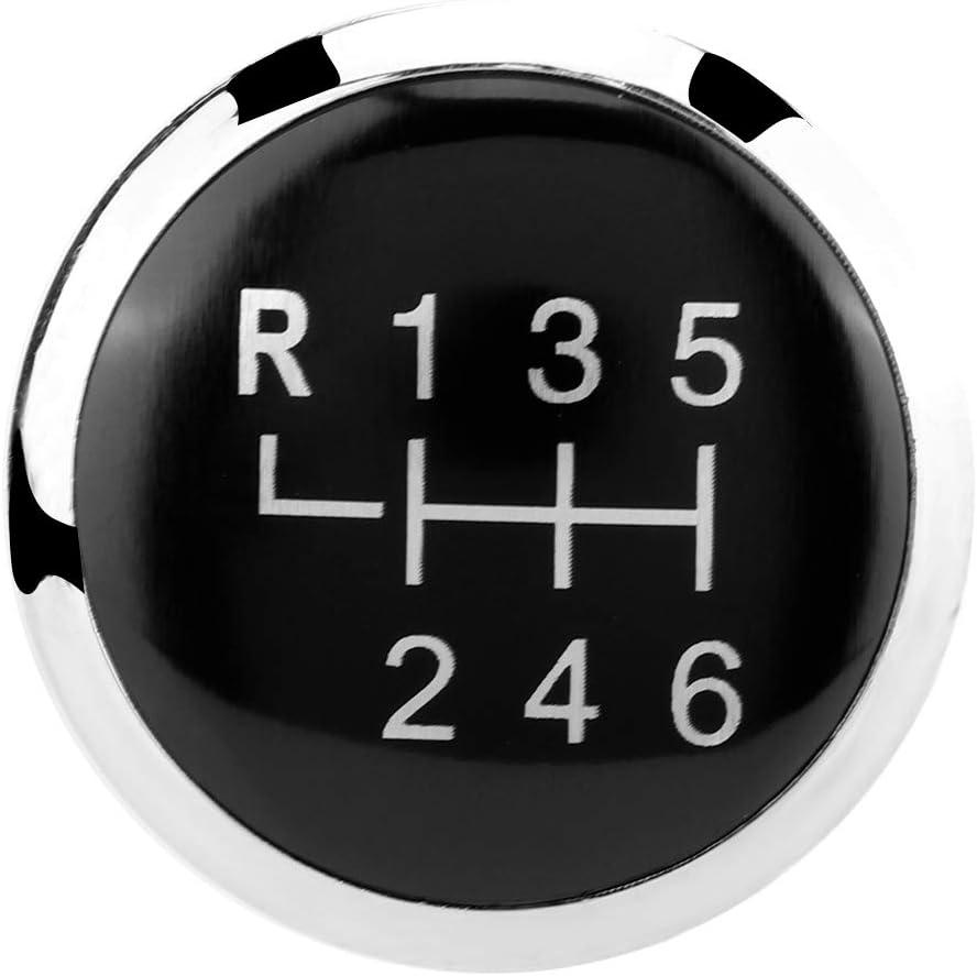 Auto 6 Gang Schaltknauf Stick Cover Emblem Badge Cap Trim f/ür T5 T5.1 Schaltknauf Abdeckung