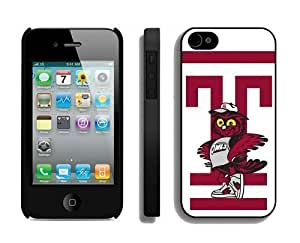 Cool Iphone 4s Cover Ncaa Temple Owls 07 Personalized Iphone 4 Cellphone Protective Case
