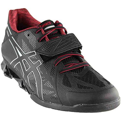 Cheap ASICS Men's Lift Master LITE Cross-Trainer Shoe, Black/Onyx/True Red, 12.5 M US