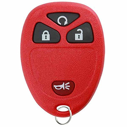 KeylessOption Keyless Entry Remote Control Car Key Fob Replacement For 15913421 -Red ()