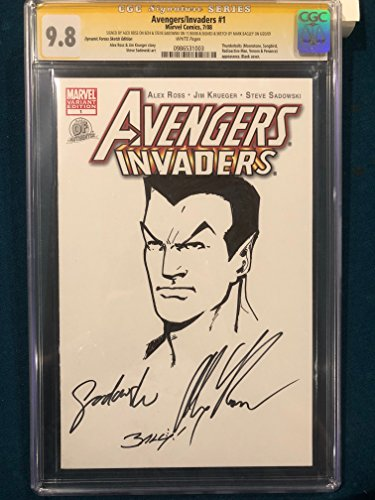 ALEX ROSS signed ORIGINAL MARK BAGLEY Sketch Art CGC 9.8 Avengers Namor Submariner ()