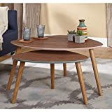 Simple Living Anders Nesting Tables, Walnut Finish