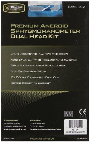 Prestige Medical Supplies Premium Aneroid Sphygmomanometer Dualhead Kit With Carrying Case