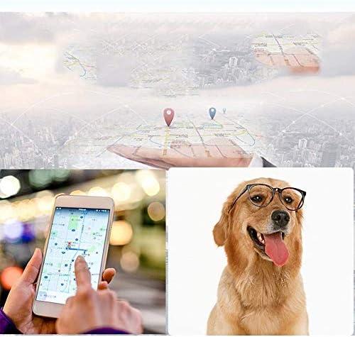 犬の首輪ペットトラッカー場所、犬のライブロケータとアクティビティモニタ30日間の長い超軽量の防水犬ファインダーCバッテリー,A