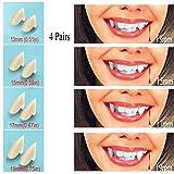Best Vampire Fangs - UVEEFUN Vampire Teeth Fangs Dentures - 4 Pair Review