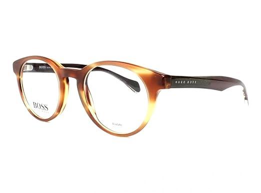 319cc8bb763 Amazon.com  Hugo Boss B0913 1K121 48mm Havana Eyeglasses  Clothing