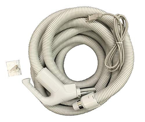 Central Vac Hose Assembly 30ft Direct Connect Electric Hose Pigtail