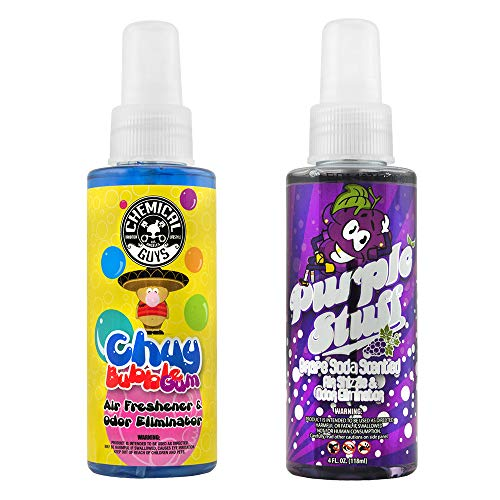 (Chemical Guys AIR_303_04 Bubble Gum and Grape Soda Scent Sample Kit (4 oz) (2 Items) )