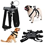 Dog Adjustable Harness Back Chest Mount Hound Pet Vest with J-hook and Release Buckle for GoPro Hero 6/5/4 Session Sports Camera Accessories TAITIAN