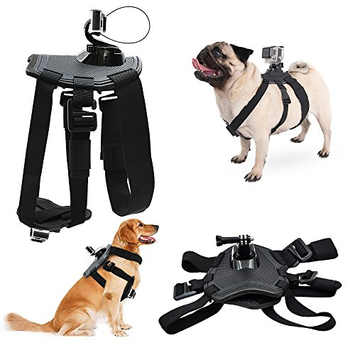Dog Adjustable Harness Back Chest Mount Hound Pet Vest with J-hook and Release Buckle for GoPro Hero 6/5/4 Session Sports Camera Accessories TAITIAN by TaiTian