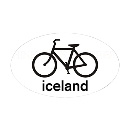 Amazon Com Cafepress Bike Iceland Oval Sticker Oval Bumper
