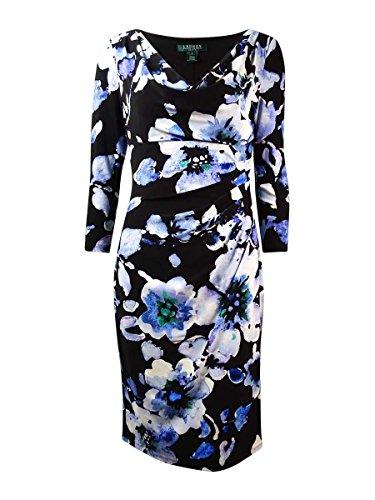 Print Cowl Neck Dress - 2