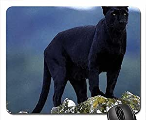 Black panter Mouse Pad, Mousepad (Cats Mouse Pad, 10.2 x 8.3 x 0.12 inches)