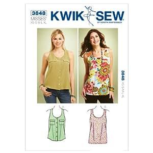 Kwik Sew K3848 Tank Tops Sewing Pattern, Size XS-S-M-L-XL