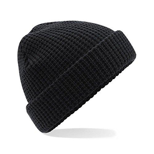 Classic Waffle Knit Beanie negro