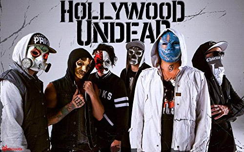 Tomorrow sunny Hollywood Undead New Masks Canvas Poster Print 24x36 inch art silk poster Wall Decor -