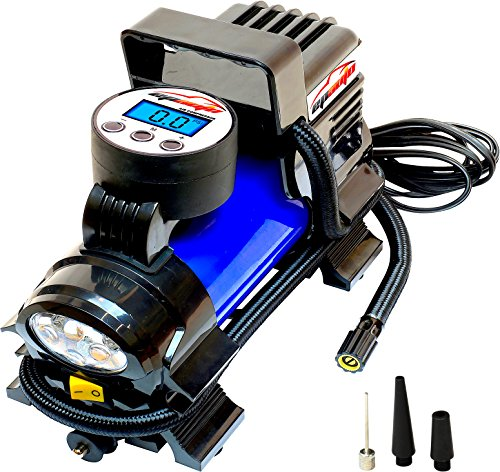 EPAuto 12V DC Portable Air Compressor Pump, Digital Tire Inflator ()
