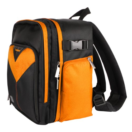 Canon EOS 650D Rebel T4i Kiss X6i Orange Sparta Collection SLR Camera Backpack