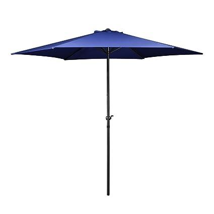 Flexzion Patio Umbrella 9 Feet - Portable Aluminum Outdoor Table Desk  Umbrella Furniture with Hexagon Shape - Amazon.com : Flexzion Patio Umbrella 9 Feet - Portable Aluminum