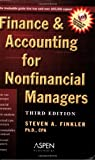 Finance and Accounting for Nonfinancial Managers, Steven A. Finkler, 0735546045