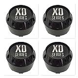 xd series center caps 6 lug - 4 Pack KMC XD Series 464K106GB Gloss Black 6 Lug Center Caps
