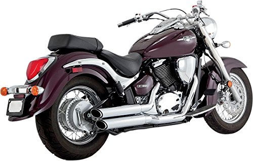 Twin Slash Staggered Exhaust System 2001-2009 Suzuki Boulevard C/M 50 18293 ()